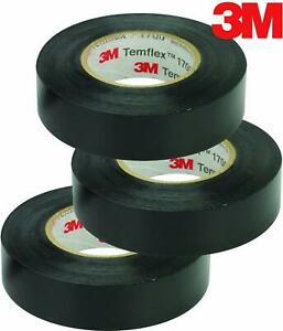 3m Temflex Vinyl Electrical Tape 1700 3 4 In X 60 Ft Black 1 5core 3 roll