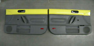 1999 2000 2001 2002 Volkswagen Beetle Yellow Grey Manual Door Panels