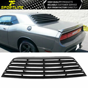 Fits 08 19 Dodge Challenger Pur Rear Window Scoop Louver Sun Shade Cover Black