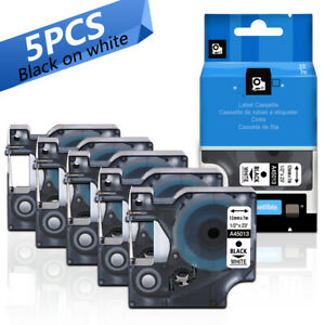 5pk 45013 S0720530 Compatible D1 Label Tape For Dymo Labelmanager 160 280 420p