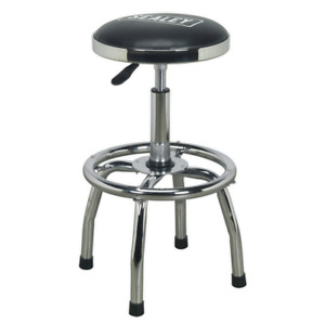 Sealey Workshop Stool Heavy Duty Pneumatic With Adjustable Height Swivel Seat