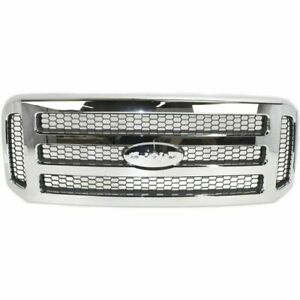 New Chrome Grille For 2005 2007 Ford F 250 F 350 F 450 Super Duty Ships Today