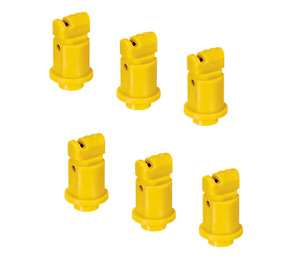Pack Of 6 Teejet Induction Flat Spray Tips Yellow 110 Polymer Visiflo