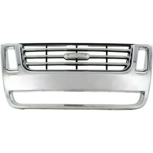 New Chrome Grille For 2006 2010 Ford Explorer 2007 2010 Sport Trac Fo1200477