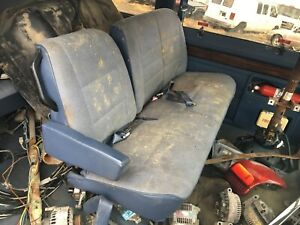 Dodge B Series Van B 150 250 350 1500 2500 3500 Rear 2nd Row Bench Seat Blue