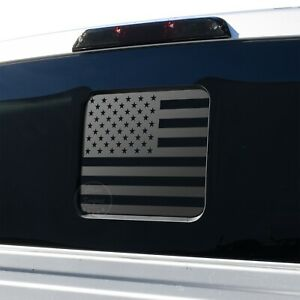 Ford F150 F250 F350 2015 2021 Back Middle Window American Flag Decal Sticker