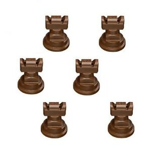Pack Of 6 Teejet Twinjet Twin Flat Spray Tips Brown 110 X 2 Polymer Visiflo
