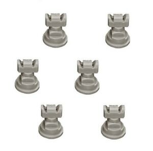 Pack Of 6 Teejet Twinjet Twin Flat Spray Tips Gray 110 X 2 Polymer Visiflo