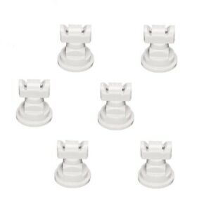 Pack Of 6 Teejet Twinjet Twin Flat Spray Tips White 110 X 2 Polymer Visiflo