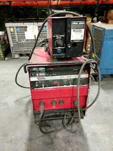 Lincoln Idealarc Cv 300 Welding Power Supply W Ln 7 Wire Feeder Used