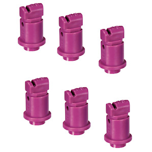 Pack Of 6 Teejet Induction Flat Spray Tips Purple 110 Polymer Visiflo