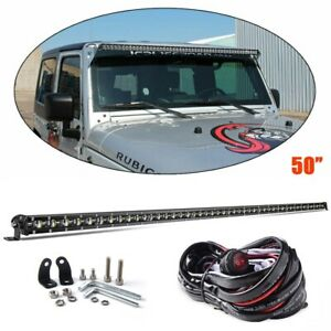 50inch 6d Super Slim Single Row Led Light Bar Single Row Led Bar Offroad Suv 4x4