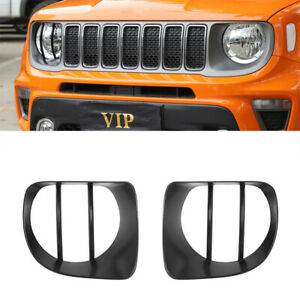 Car Headlight Decoration Cover Trim For Jeep Renegade 2019 2020 Car Accessories