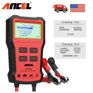 12v Battery Load Tester Battery Cranking Charging Analyzer Tool 220ah 2000cca Us