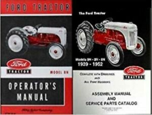 Ford 9n 2n 8n Tractor Assembly Parts Manual Catalog Exploded View 1939 1952