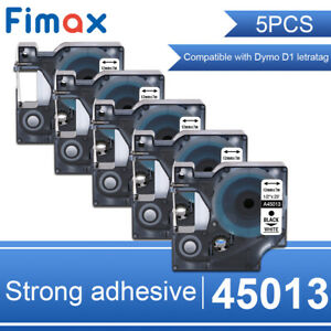 5pk Compatible Dymo D1 Label Tape 45013 S0720530 For Labelmanager 160 280 420p