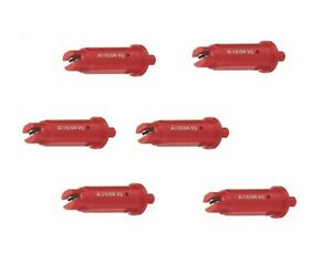 Pack Of 6 Teejet Air Induction Flat Spray Tips Red 110 Polymer Visiflo