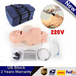 Pvc Intubation Manikin Study Teaching Model Airway Management Trainer With Alarm