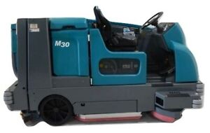 Reconditioned Tennant M30 Propane Powered Rider Sweeper scrubber