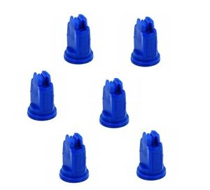 Pack Of 6 Teejet Air Induction Xr Flat Spray Tips Blue 110 Polymer Visiflo