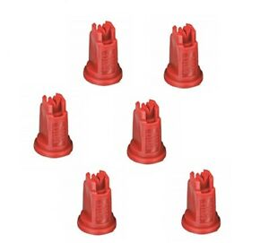 Pack Of 6 Teejet Air Induction Xr Flat Spray Tips Red 110 Polymer Visiflo