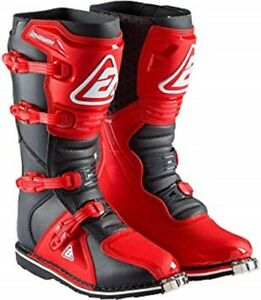 NEW Answer Racing AR1 MX Boots Red and Black motocross atv offroad Boot MX