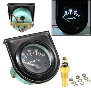 Universal 2 52mm Digital Led Water Temp Temperature Gauge 40 120 12v