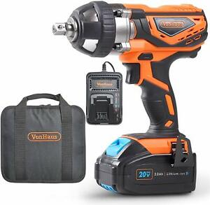 1 2 Impact Wrench Kit Smart Charger High Torque Heavy Duty Powerful Tool New