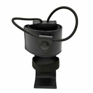 Universal Leather Strap Strong Elastic Bands Black Radio Holder 5 5 Tall