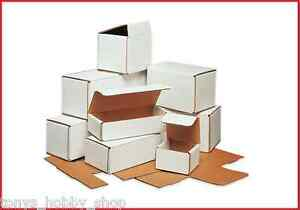 50 Pack White Corrugated Mailer Shipping Boxes small 3 6 60 Sizes