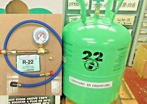 Refrigerant 22 10 Lb Can Made In Usa Factory Sealed Fast Same Day Shipping