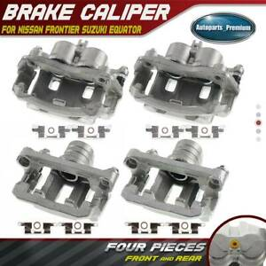 4pcs Brake Calipers For Nissan Frontier 05 16 Suzuki Equator 09 12 Front