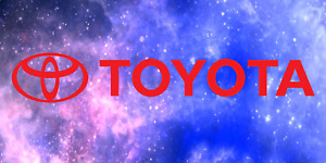 Gloss Red Toyota Vinyl Decal 8 5 Die Cut Jdm Dope Canibeat