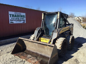2008 New Holland L175 Skid Steer Loader W Cab 2 Speed Cheap