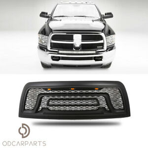 Fits 2010 2018 Dodge Ram 2500 3500 With Led And Letters Grille Rebel Matte Black