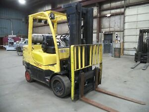 2013 Hyster S80ft 8 000 8000 Cushion Tired Forklift 3 Stage Side Shift