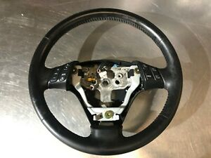 04 09 Mazda 3 Speed Hatchback Steering Wheel Black Leather Factory Oem