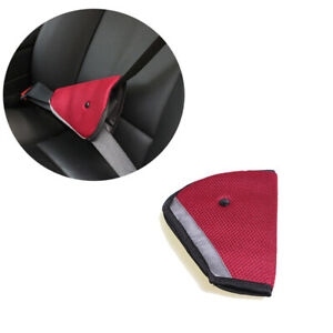 Auto Car Safety Cover Strap Adjuster Pad Harness Seat Belt Clip For Children Red