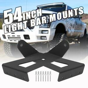 Roof Mount Bracket For 99 15 Ford F250 F350 Super Duty 54 Curved Led Light Bar