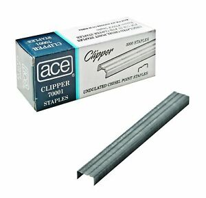 Ace Office Products 70001 Staples Undulated For 07020 Clipper Plier 5000 bx