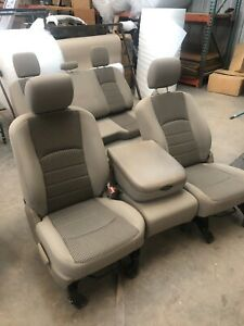 2009 2011 Dodge Ram 1500 2500 3500 Front Buckets Jump Seat Cloth Leather Tan