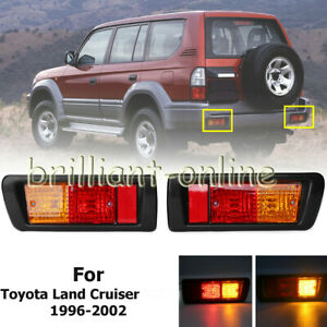 2x Fit For Toyota Land Cruiser 1997 2002 Tail Rear Bumper Fog Light Signal Lamps