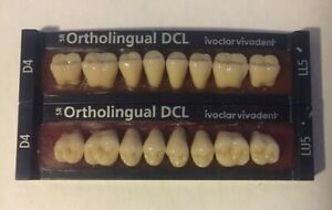 Ivoclar Vivadent Dcl 2 Cards Of Shade D4 Teeth For Dental Lab Materials