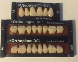 Ivoclar Vivadent Dcl 3 Cards Of Shade A2 Teeth For Dental Lab Materials