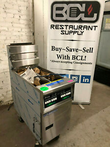 Pitco Ssh55t Solofilter Solstice Supreme Natural Gas Floor Fryer With Digital Co