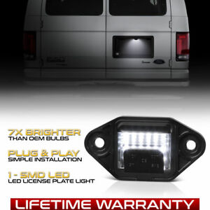 92 18 Ford E150 E250 E350 E450 Econoline Wagon Full Led License Plate Light Lamp