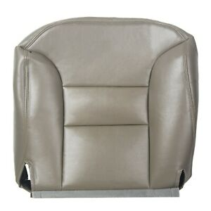 For 95 99 Chevy Tahoe Suburban Leather Driver Bottom Seat Cover Pewter Gray