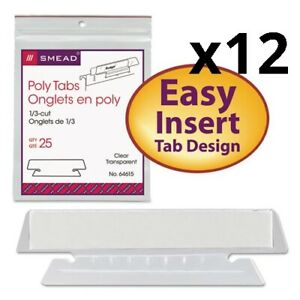 Poly Index Tabs And Inserts For Hanging File Folders 1 3 cut Tabs