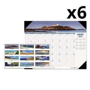 Recycled Coastlines Photographic Monthly Desk Pad Calendar 18 1 2 X 13 2020