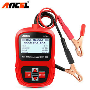 12v Digital Battery Load Tester Car Agm Gel Battery Analyzer Tool 100 1100cca